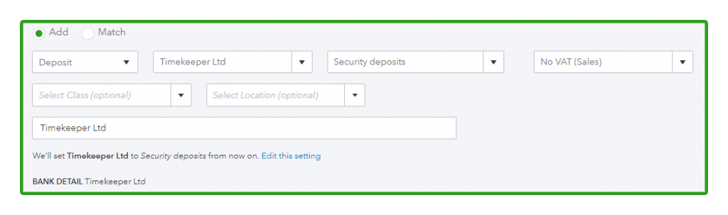 Taking Security Deposits from Customers in QuickBooks Online